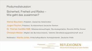 """""""Reflexionen 2015"""" - Sicherheit, Freiheit und Risiko (Podiumsdiskussion)"""