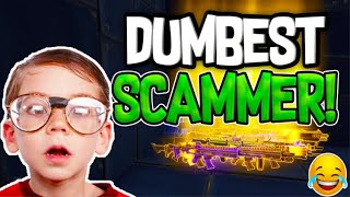 DUMBEST SCAMMER SCAMS HIMSELF IN FORTNITE SAVE THE WORLD PVE