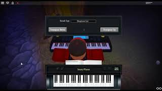 Bubble Tea by: dark cat ft. Juu, Cinders on a ROBLOX piano.