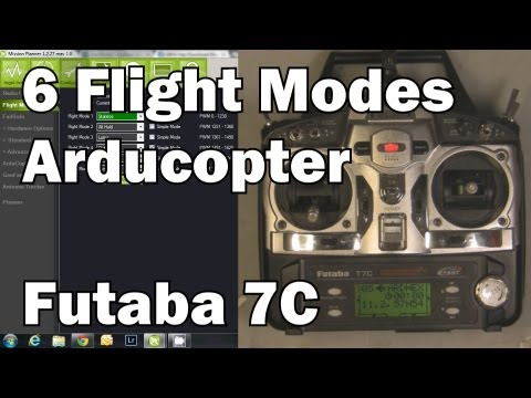 6 Arducopter Flight Modes Programming in Futaba 7C by RCTESTBENCH on YouTube