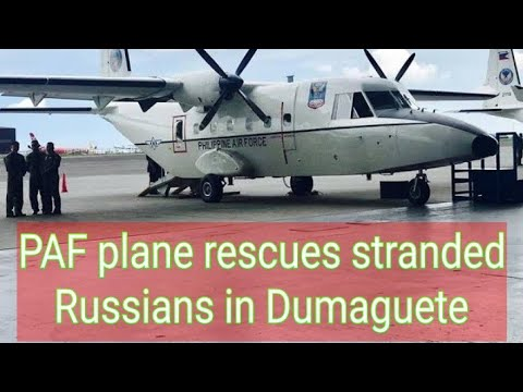 paf-plane-rescues-stranded-russians-in-dumaguete