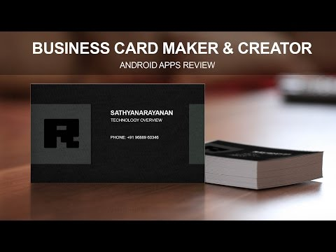 Business Card Maker & Creator -  Android Apps Review