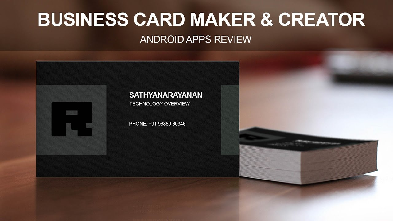 Business Card Maker Creator Android Apps Review YouTube - Business card template app