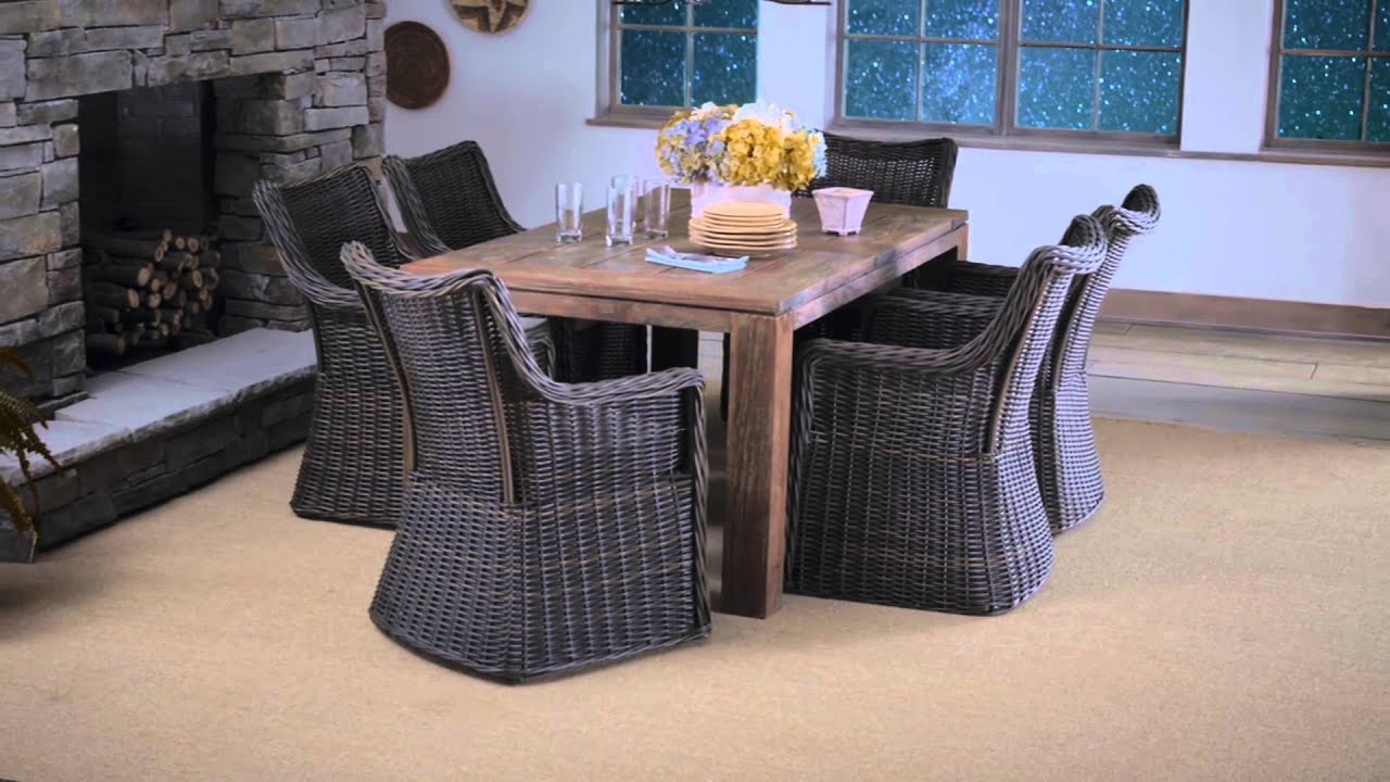 Patio Furniture That Can Be Used Indoors And Outdoors   Allen + Roth    YouTube