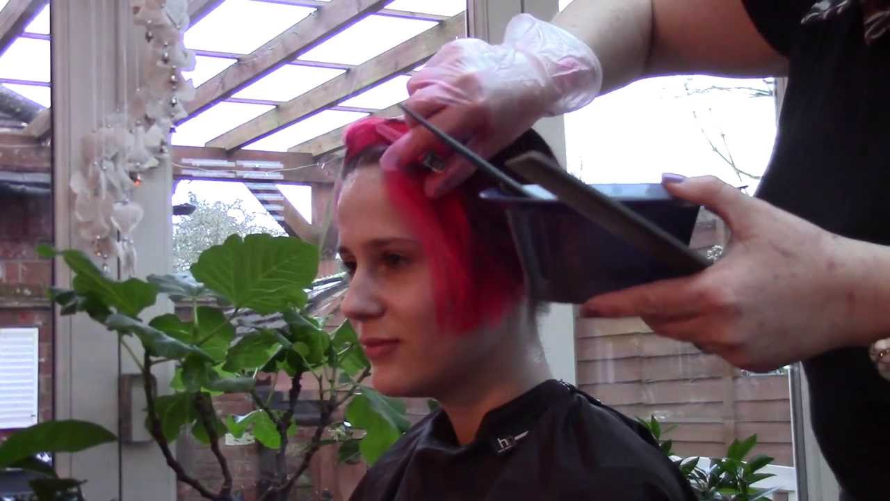 Vermillion Red Hair Colour Application Directions By La