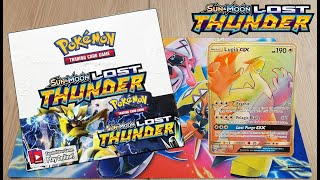 Opening a Lost Thunder Booster Box!! BEST BOX SO FAR???