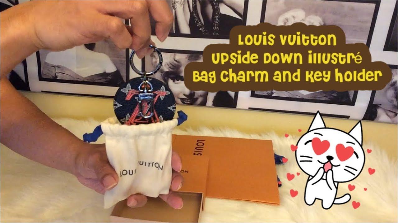 59b970712b Unboxing! Louis Vuitton Upside Down illustré Bag Charm and Key Holder!