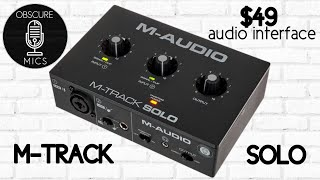 M-Audio Solo | $49 Audio Interface | Review and what you need to know before buying!