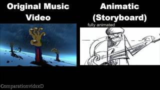 Gorillaz - Clint Eastwood Original Music Video Vs Animatic (Storyboard)