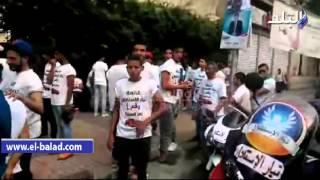 بالفيديو والصور.. مسيرة بالسيارات المكشوفة والموتوسيكلات لأعضاء تيار الاستقلال بوسط البلد