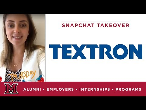 Grace's Corporate Communications Internship for Textron in Providence, RI
