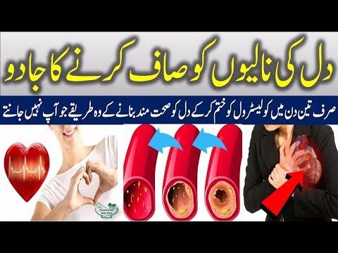 How To Clean Arteries & Remove Bad Cholesterol Urdu / Hindi - کولیسٹرول کم کرنے کے گھریلوطریقے