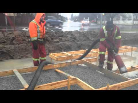 Aggregate Installation With Blower Truck By Denbow Jan 2016