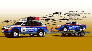 Porsche Cayenne ''техничка'' & 959 Париж-Дакар 1986 | Porsche Cayenne & 959 Paris-Dakar 1986