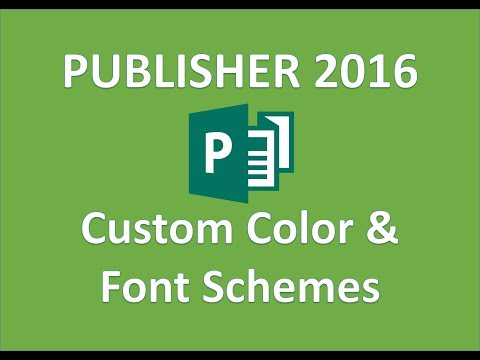Publisher 2016 - Color and Font Schemes - How To Create Custom Colors and Fonts Theme in MS Tutorial