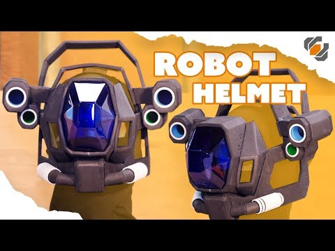 Vacuform Visor and EVA Foam Robot Helmet - Destiny Sweeper Bot Build