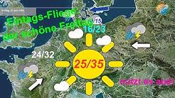 """Aktuelle Wetterprognose für 9. Juni 2020 mit Ausblick auf den """"schönen Freitag"""" mit Sonne & Wärme!"""
