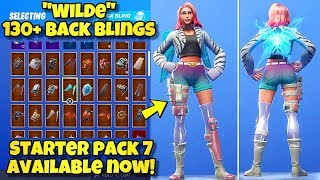 "NEW ""WILDE"" SKIN Showcased With 130+ BACK BLINGS! Fortnite Battle Royale (BEST WILDE SKIN COMBOS)"