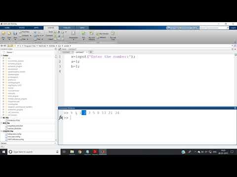 Fibonacci Series In MATLAB Without Built-in Function | MATLAB For Beginners