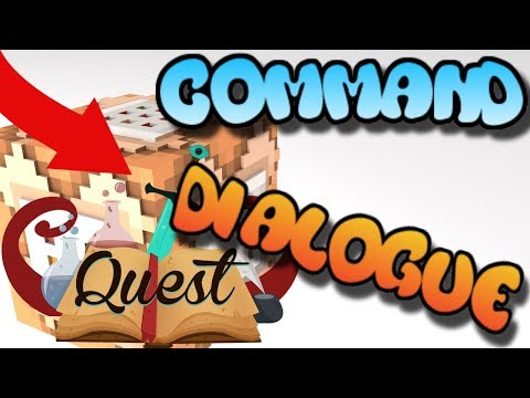 Minecraft Command Block Quest Dialogue Tutorial Bedrock Edition (Xbox One,Mcpe,Windows10)