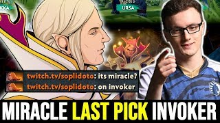 MIRACLE Last Pick Invoker for his Smurf NEW SEASON calibration Dota 2
