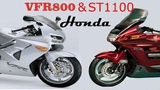 Honda Vfr800 & Honda St1100 Pan European.