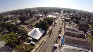Aerial view of 2015 RAGBRAI in Solon, Iowa