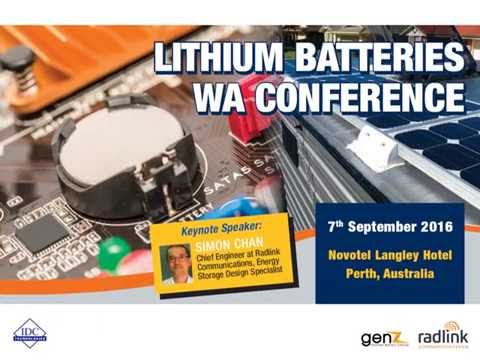 "Lithium Ferro Phosphate Batteries - The ""Safe Lithium"" - Simon Chan"