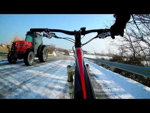 Neve a Bellaria Igea Marina - 28 Febbraio 2018 - Giro in MTB