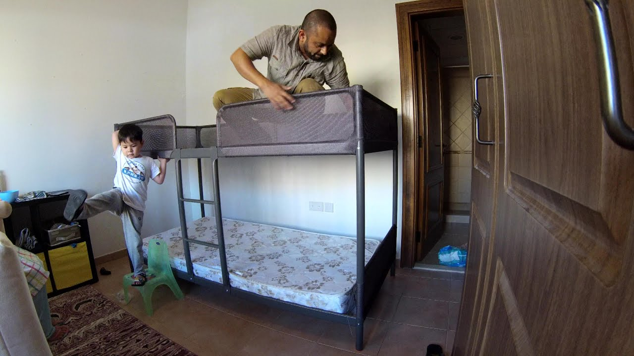 Hemnes Bed Hack Time Lapse Build Ikea Tuffing Bunk Bed Youtube