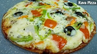 Rava Pizza || Semolina Pizza || Sooji Pizza Recipe