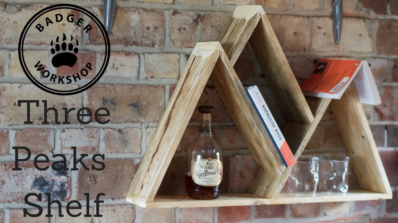 Three peaks mountain shelf youtube for Mountain shelf diy