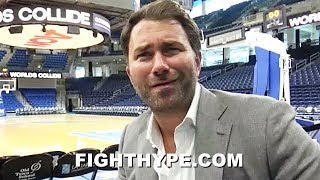 EDDIE HEARN REACTS TO MCGREGOR'S RETURN ON SAME DAY AS FIRST US DAZN CARD; RESPONDS TO CRITICS
