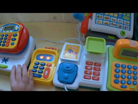 Детские кассы с микрофоном - сравнение 2-х моделей