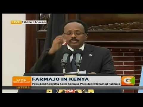 President Kenyatta hosts Somalia President Mohamed Farmajo
