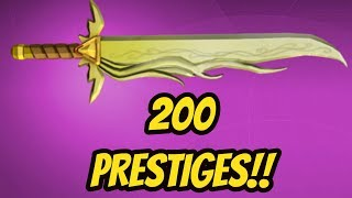 REACHING PRESTIGE 200!!! (ROBLOX ASSASSIN)