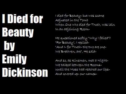 I Died for Beauty by Emily Dickinson- Poetry Reading