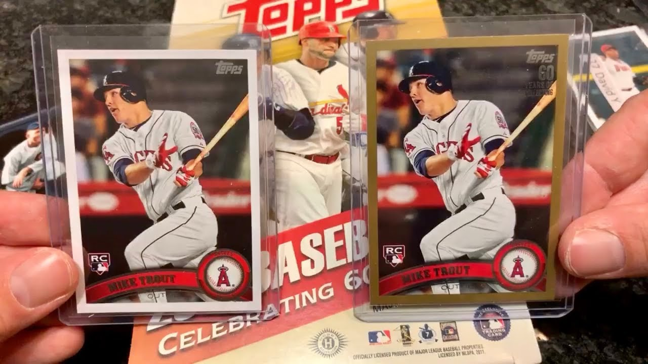 2011 Topps Update Break Finding Rare Mike Trout Rookie Cards
