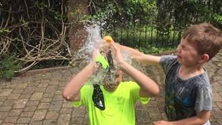 H Bursting a Water Bomb Balloon in Slow Motion over Bobstinator's head