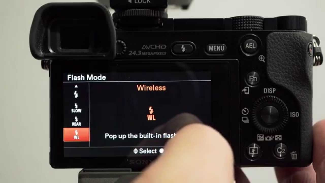 Sony Alpha Tutorial - Setting up a Camera for Wireless Flash