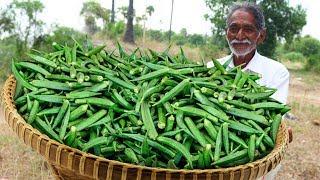Crispy Okra Kurkure By Our Grandpa | Okra Kurkure Recipe | Kurkure Bhindi Fry