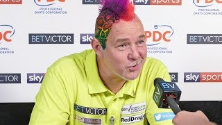 Peter Wright: 'I was rubbish but I will beat Kim Huybrechts.'