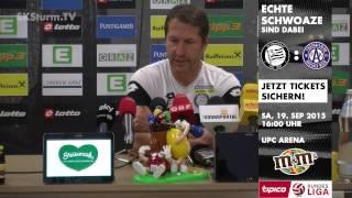 SK Sturm: Mediabriefing vor FK Austria Wien (9. Runde 2015/16)