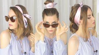 ТОП 11 СПОСОБОВ Как повязать платок на голову / Прически с платком/ Suzi Sky