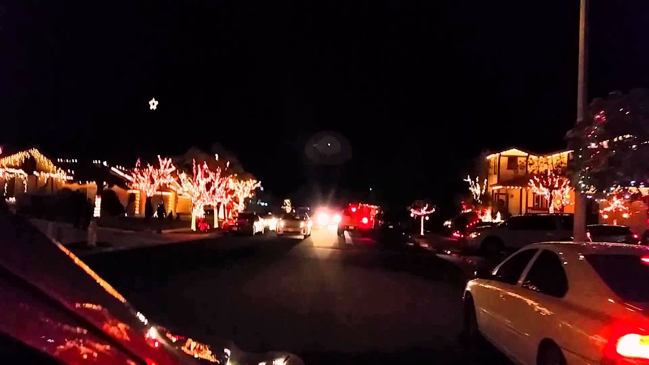 Yucaipa Synched Christmas Lights 2014 - YouTube