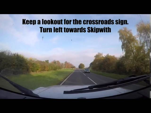 Directions to the Yorkshire Paintball Centre from Selby.