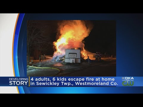 Trailer Catches Fire Overnight In Sewickley Township