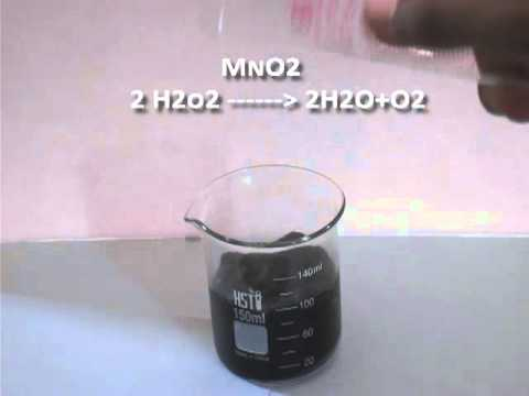 Hydrogen Peroxide And Manganese Dioxide Reaction