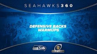 A 360 Degree Look at Seahawks Defensive Backs Warm Ups at Vikings