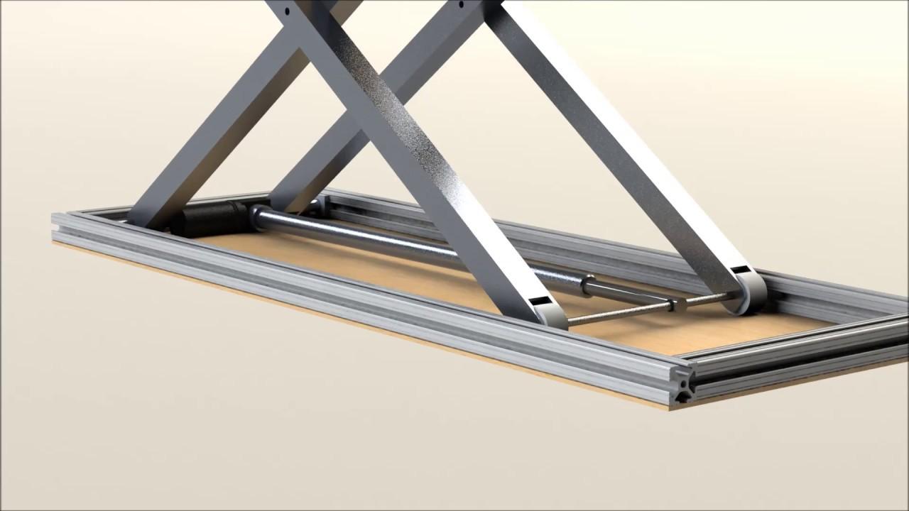 Scissor Lift Design Solidworks Youtube